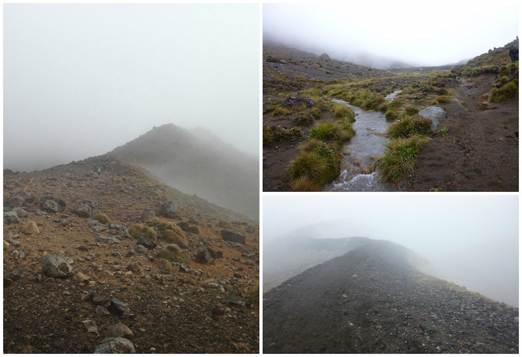 Tongariro Crossing im Nebel